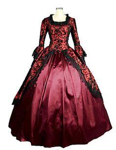 steampunk®victorian gothic cosplay satin Zeit-Ballkleid-Abschlussball-Nachstellung Theaterkleidung