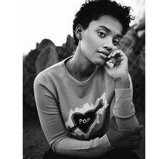 Kiersey Clemons's pixie/afro is too sexy!