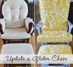 Update a glider chair...from theDIY Mommy.com
