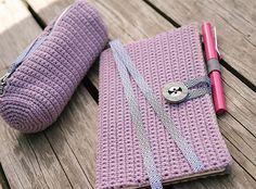Sketch Set: Crochet Journal Cover and Crochet Pencil Case Crochet Pattern