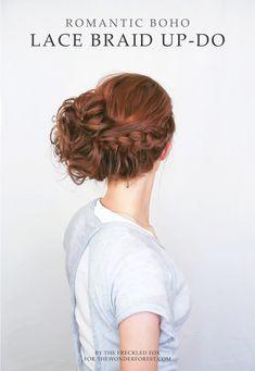 Romantic Boho Lace Braid Up-Do//