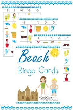 Printable Beach Bingo Cards - By Year Round Homeschooling