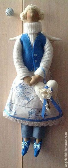 Куклы Тильды ручной работы. Ангел хранитель домашнего уюта. Детали счастья. Ярмарка Мастеров. Кукла, кукла интерьерная, войлок