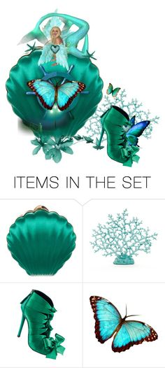 """""""Build A Mermaid Purse with Matching Shoe"""" by catfabricsandbuttons ❤ liked on Polyvore featuring art and build"""