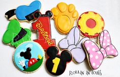 Mickey Mouse Clubhouse Cookies by rollinindough.etsy.com
