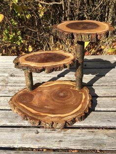 Large Unique gift present Elm Wood Rustic by TheShindiggityShoppe Cupcake Stand Wedding, Cake And Cupcake Stand, Cupcake Display, Rustic Cupcakes, Rustic Cake, Diy Wood Projects, Woodworking Projects, Diy Baby Shower Centerpieces, Tree Logs