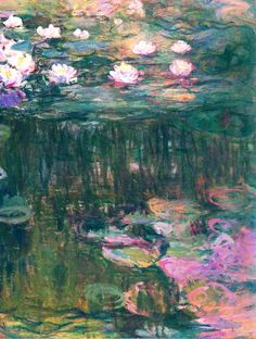 Water lilies detail ~ Claude Monet