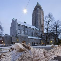 Kallio Church, exterior  Built 1908 - 1912, designed by Lars Sonck in National Romantic style it shows early elements of Art Nouveau.