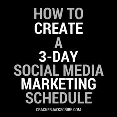 Social Media Marketing in 3 Easy Days [INFOGRAPHIC]