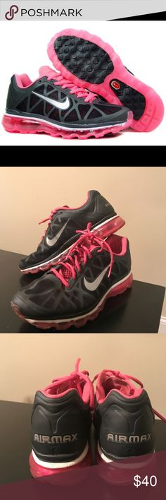 Nike Air Max Nike Air Max 2011. Pink and Grey. Women's size 11. Normal signs of wear. Nike Shoes Sneakers