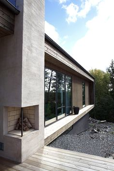 Villa Jacobsson-Jansson Rönninge Sweden by Anders Holmberg Arkitekter Build My Own House, Building A House, Modern Fireplace, Wooden House, Architecture Details, My Dream Home, Future House, Outdoor Spaces, Pergola