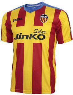 @Valencia tercera equipación de la temporada 2013/2014 con los colores de la senyera del país valencià #9ine