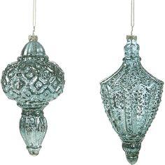 Blue Glass Ornaments