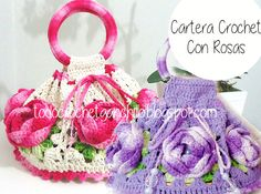 Todo crochet: Bolso con rosas al crochet / esquemas crochet