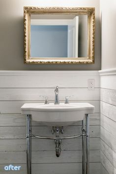 Check this whole house makeover at betterafter.net Really like this sink for our new bathroom