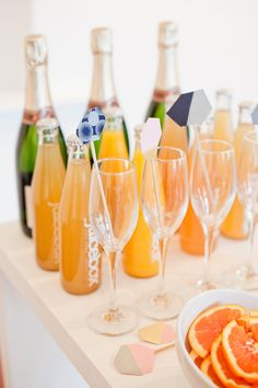 Rose Quartz by Yolande Snyders & Yellow Papaya Mimosa Bar, Rose Quartz, Cocktail, Wedding Photography, Bride, Drinks, Yellow, Tableware, Inspiration
