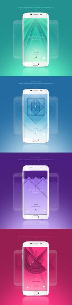 Elegant geometric mobile lock screen on Behance