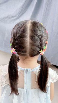 Cute Little Girl Hairstyles, Baby Girl Hairstyles, Bride Hairstyles, Easy Hairstyles, Braids For Kids, Hair Dos For Kids, Toddler Hair Dos, Hair Style Vedio, Anna Hair