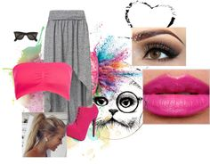 """""""retro pink"""" by faith484 ❤ liked on Polyvore"""