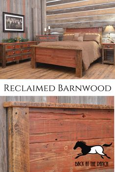 Check out our custom, handmade recycled/reclaimed barnwood furniture constructed from old barnwood sourced in Colorado. We ship nationwide! Available with Tin inlay, red plank (shown), and regular barnwood. Dining Furniture, Rustic Furniture, Furniture Making, Bedroom Furniture, Rustic Headboards, Barn Wood Projects, Reclaimed Barn Wood, The Ranch, Rustic Style