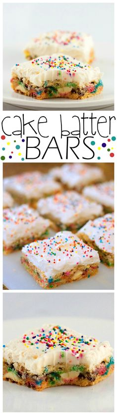 These funfetti cake batter bars are a delicious take on cake. These cake batter bars have everything you love about cake in a convenient bar…