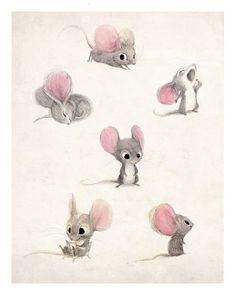 Mice sketches, artist unknown