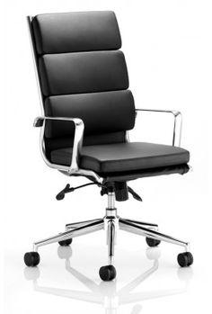 The Savoy High Back Black Leather Chrome Designer Office Chair Is A Sleek