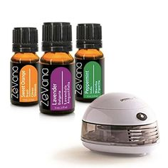 Zevana Top Essential Oils (3-Pack)  Soothing Essential Oils Essential oils spread refreshing scents when used in a diffuser or around the house or traveling  Enjoy three of the most popular oil blends...