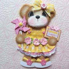 ELITE4U-Laura-Sunshine-BOUTIQUE-GIRL-Tear-BEAR-Premade-Scrapbook-3paperwishes