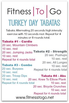 Workouts : Illustration Description Wednesday Workout – Turkey Day Tabatas -Read More – Fitness Tips, Fitness Motivation, Health Fitness, Group Fitness, Fitness Exercises, Workout Fitness, Fun Workouts, At Home Workouts, Morning Workouts