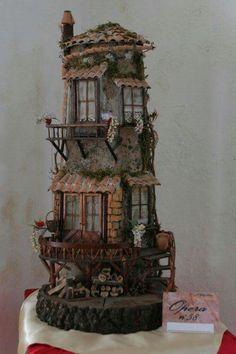 Le case di s. Miniature Crafts, Miniature Fairy Gardens, Miniature Houses, Miniature Dolls, Clay Flower Pots, Free To Use Images, Metal Garden Art, Fairy Garden Houses, Gnome