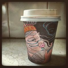 BioPak Art Series Cup Art, Art Series, Travel Mug, Planter Pots, Mugs, Cups, Mug