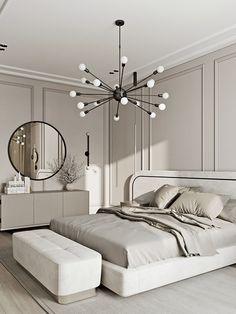 Park Avenue on Behance Room Design Bedroom, Room Ideas Bedroom, Home Room Design, Home Bedroom, Bedroom Decor, Master Suite Bedroom, Bedroom Shelves, Bedroom Signs, Bedroom Colors