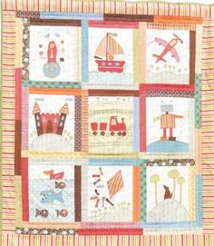 A Boy Story Quilt  Anni Downs of Hatched & Patched