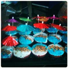 cup cakes beach boda