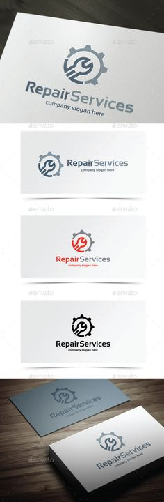 Repair Services - Logo Design Template Vector #logotype Download it here: http://graphicriver.net/item/repair-services/10406740?s_rank=797?ref=nesto