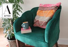 Before & After: A Little Chair's Upholstery Gets a Spray Paint Makeover