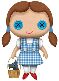 """Wizard of Oz - Dorothy 7"""" Plush A sought after plush, this brightly coloured - TV / Movie - Wizard of Oz - Popcultcha"""