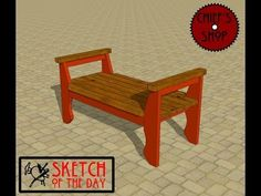 Chief's Shop Sketch of the Day: Contemplation Bench - YouTube
