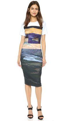 McQ - Alexander McQueen Body Con Midi Dress