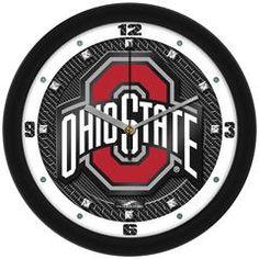 Ohio State Buckeyes Dimension Wall Clock – College Tickers Ohio State Logo, Ohio State Buckeyes, South Carolina Gamecocks, School Colors, Carbon Fiber, Texture, Crystals, Glass Crystal, Wall Clocks
