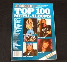 Hit Parader Top 100 Metal Albums Magazines Parader's Spring 1989 Rock n Roll