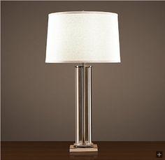 Restoration Hardware Look-Alikes: Save $76 @ Home Decorators vs Restoration Hardware French Column Glass Table Lamp