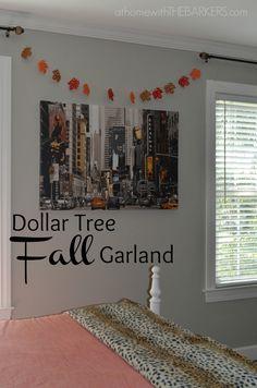 Dollar Tree Felt Garland