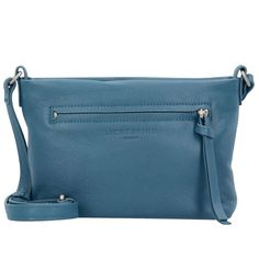 48da9ca328f6a Liebeskind BroadwayF8 Mini Bag Umhängetasche Leder Damen 19 cm (denim blue)