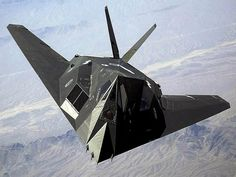 F-117 Nighthawk Stealth Bomber. It looked like something derived from another planet when in reality it was actually just made of plywood!