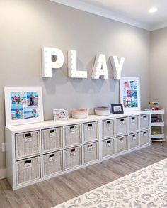 Living Room Playroom, Loft Playroom, Small Playroom, Toddler Playroom, Playroom Design, Playroom Decor, Bedroom Decor, Kids Playroom Storage, Playroom Ideas