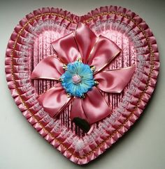 Pretty Pink Vintage Valentine Candy Box  ♥