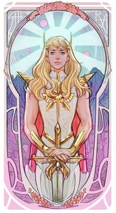 She-Ra (color), an art print by Mona Fuchs, , She-Ra (color), an art print by Mona Fuchs - INPRNT. Deku Anime, She Ra Princess Of Power, Fanart, Art Nouveau Design, Cultura Pop, Animation Series, Magical Girl, Comic Art, Pop Culture