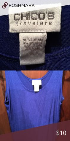 Chicos travelers Chicos travelers beautiful blue tank Chico's Tops Tank Tops